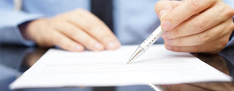 checking paperwork