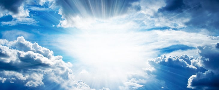 sun through cloud