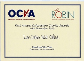 Oxfordshire Charity Award 2010
