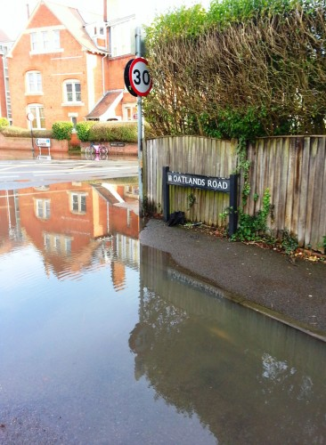 Flooding in Oatlands Road Winter 2014
