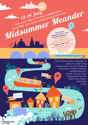 Midsummer Meander river-themed junk art workshop with Groovy Su [private event] @ West Oxford Community Primary School