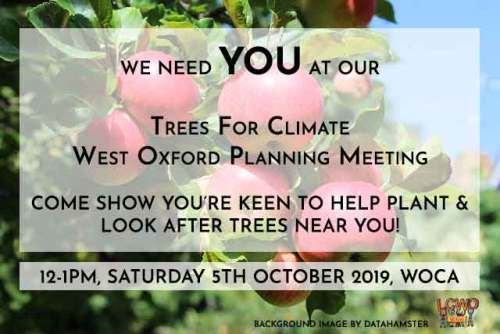 West Oxford tree planting - come show you're keen! @ Mary Town Room, West Oxford Community Centre | England | United Kingdom