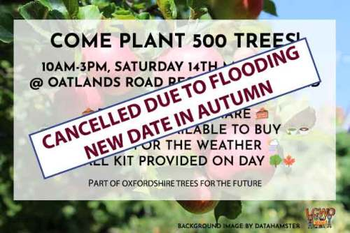POSTPONED TO AUTUMN Come plant 500 trees in West Oxford @ Oatlands Park | England | United Kingdom