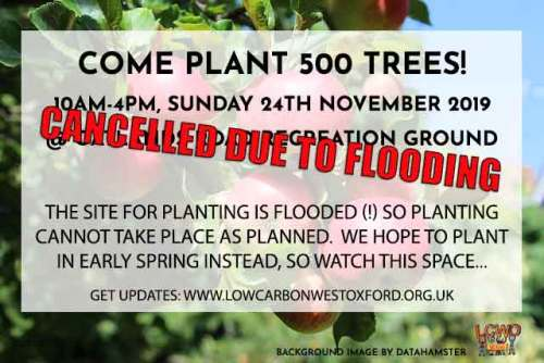 POSTPONED till Spring 2020: West Oxford TREE PLANTING @ Oatlands Park | England | United Kingdom