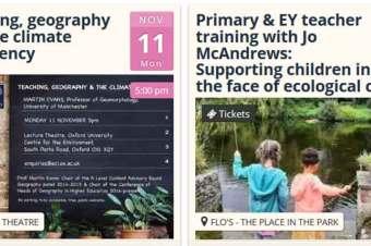 Two workshops for teachers this November