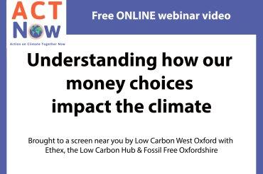Greening your money – new video resource online now
