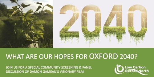 Oxford 2040: panel discussion @ Online event
