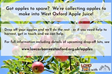 We need your apples – be part of our very own West Oxford juice blend this autumn