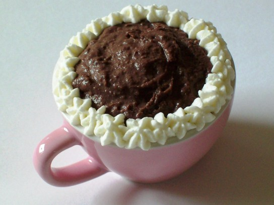 Quick Low-Carb Mocha Pudding, Decorated with Whipped Cream | Low-Carb, So Simple!