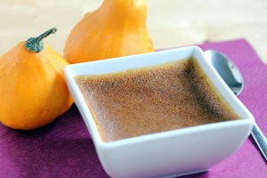 Easy Low-Carb Pumpkin Custard - with Tiny Decoration Pumpkins