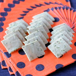 Chives and Sour Cream Crackers; Ready for Halloween 2 | Low-Carb, So Simple!