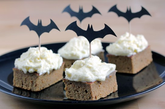 Moist Low-Carb Pumpkin Bars, Frosted with Quick Low-Carb Cream Cheese Frosting, Ready for Halloween | Low Carb, So Simple!