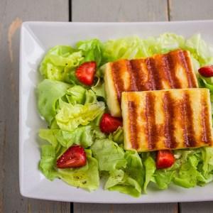 Strawberry Halloumi Salad | Low-Carb, So Simple!