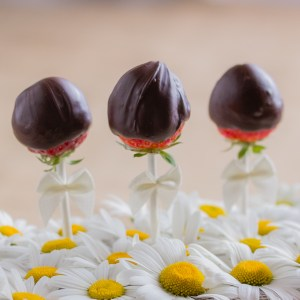 Chocolate Dipped Strawberry Pops; Strawberries and Daisies | Low-Carb, So Simple!