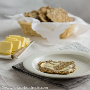 Gluten-Free, Dairy-Free Crisp Bread; Bread and Butter   Low-Carb, So Simple!
