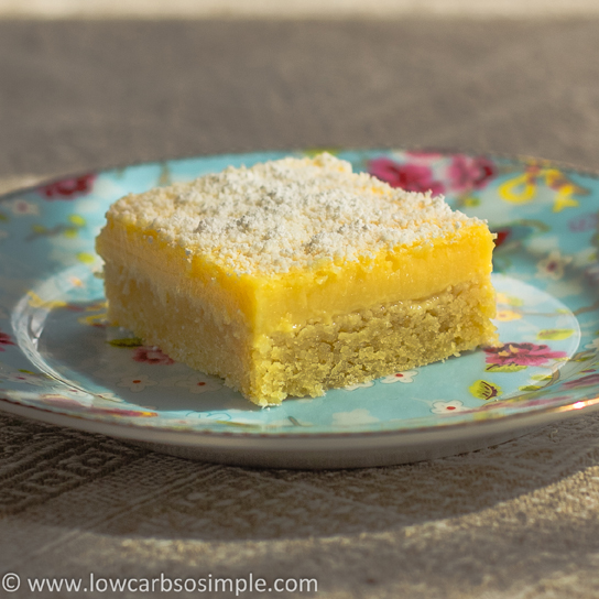 Luscious Low-Carb Lavender Lemon Bars | Low-Carb, So Simple!