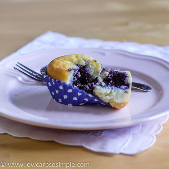 Sugar-Free Blueberry Jam; Blueberry Jam Filled Muffin   Low-Carb, So Simple!