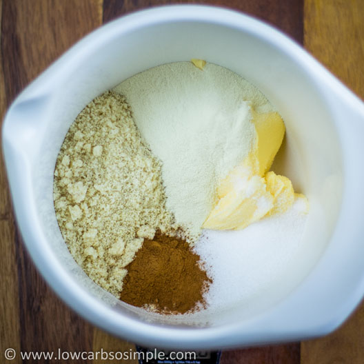 Heavenly Cinnamon Bites; All Ingredients In a Bowl   Low-Carb, So Simple!