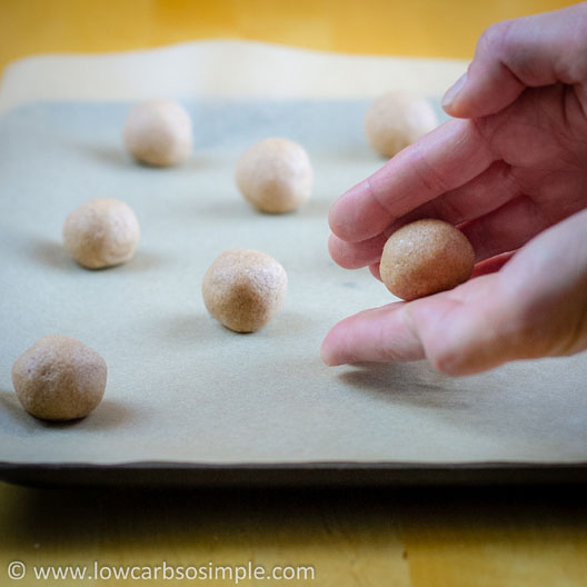 Heavenly Cinnamon Bites; Forming Walnut Size Balls   Low-Carb, So Simple!