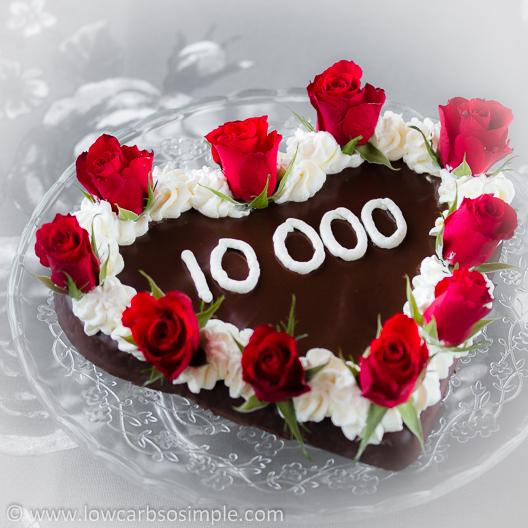 10,000 Facebook Fans Celebration Cake   Low-Carb, So Simple!