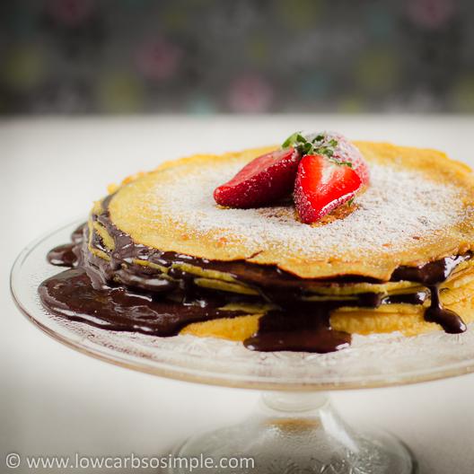 Sugar-Free Hot Fudge Sauce in Layered Cake | Low-Carb, So Simple!