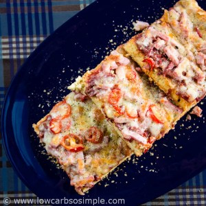 Flat Bread Deep Pan Pizza Crust; Pizza | Low-Carb,So Simple!