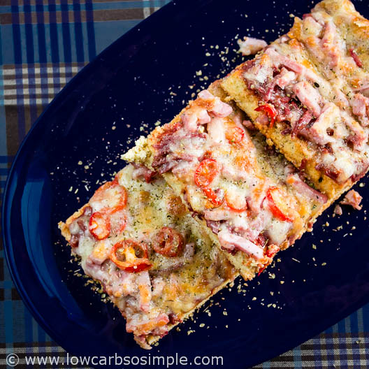 Gluten-Free Low-Carb Flat Bread / Deep Pan Pizza Crust; Pizza | Low-Carb,So Simple!
