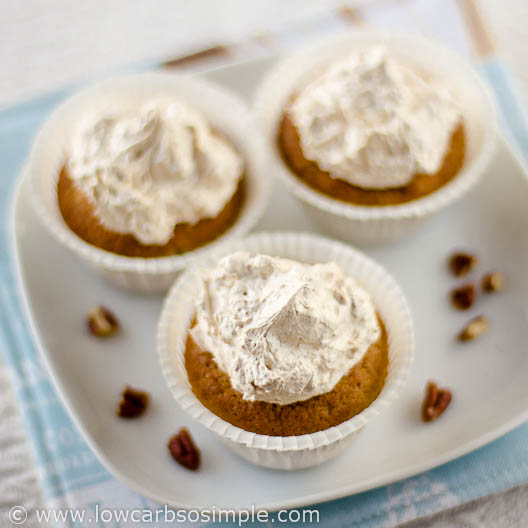 Some More Pumpkin Muffins with Toasted Pecan Butter | Low-Carb, So Simple!
