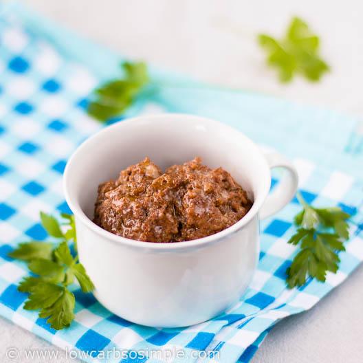 Salsa Meatloaf in a Mug | Low-Carb, So Simple!