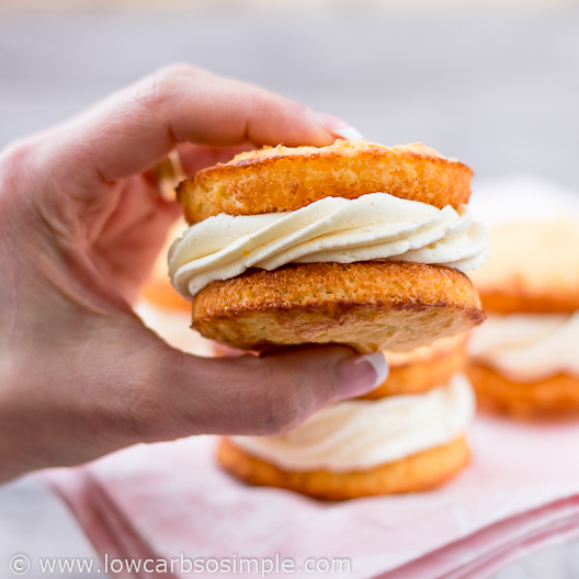 Image of Whoopie pies; Lemon cakes with buttery orange filling | Low-Carb, So Simple