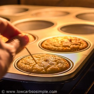 Image of Unusually Fluffy Muffins; Testing with a Toothpick | Low-Carb, So Simple