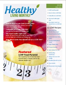 Cover Page of the First Issue of Healthy Living Monthly Newsletter