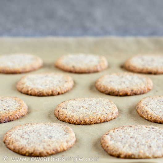 Cooled Cookies   Low-Carb Hazelnut Butter Cookies