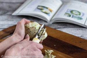 Vegetarian Stuffed Avocado from KetoDiet Cookbook; Peeling Celeriac | Low-Carb, So Simple