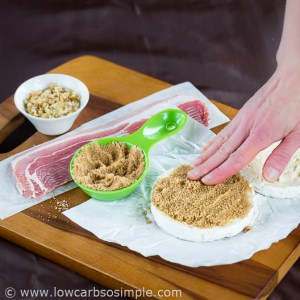 Bacon Wrapped Camembert with Walnuts; Pressing the Sweetener | Low-Carb, So Simple