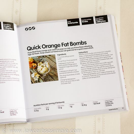 Fat Bomb Cookbook Review; Quick Orange Fat Bombs Recipe from the Book | Low-Carb, So Simple