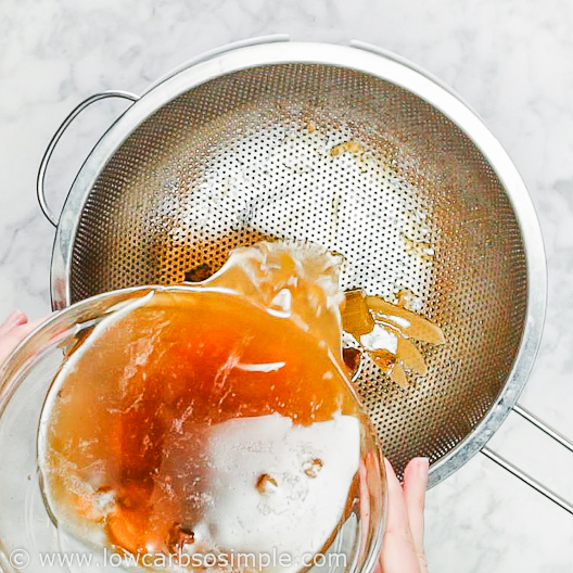 Straining the Broth | Low-Carb, So Simple