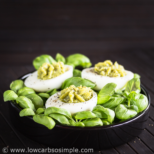Best-o Keto Pesto Deviled Eggs | Low-Carb, So Simple