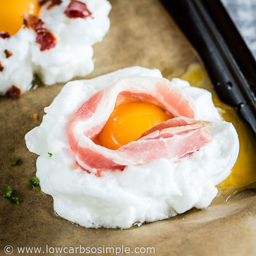Bacon and Eggs on a Cloud; The Ring of Bacon | Low-Carb, So Simple