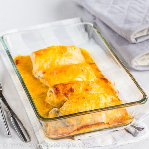 Easy Bacon and Cheese Stuffed Rolled Chicken; Ready! Straight from the Oven | Low-Carb, So Simple