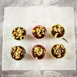 Frozen Peanut Butter Cups; Ready for Final Freezing | Low-Carb, So Simple
