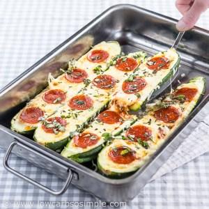 Pizza Stuffed Zucchini; Bon appétit! | Low-Carb, So Simple