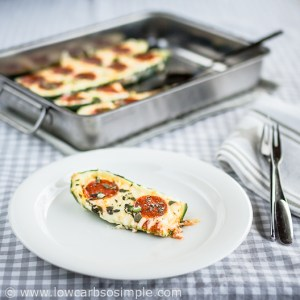 Pizza Stuffed Zucchini | Low-Carb, So Simple