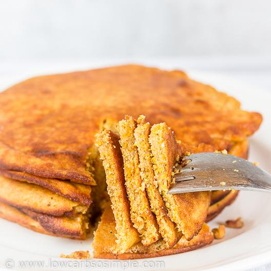 Fluffy 5-Ingredient Pumpkin Pancakes; Ultimate Pancake Yum! | Low-Carb, So Simple