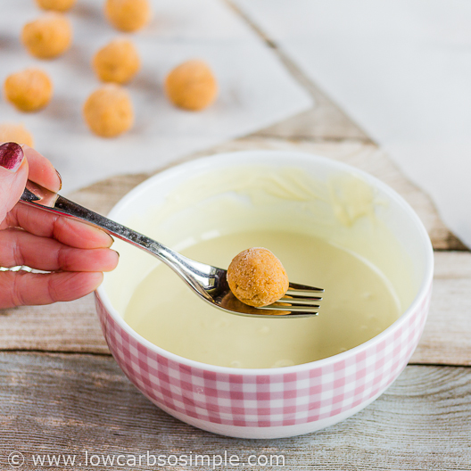 Pumpkin White Chocolate Truffles; Coating | Low-Carb, So Simple