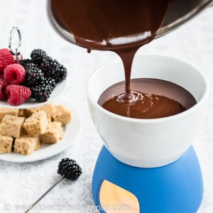 Pouring into Fondue Pot | Low-Carb, So Simple