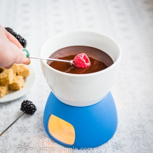 Bourbon Dark Chocolate Fondue | Low-Carb, So Simple