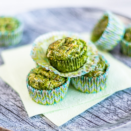 Green Egg Muffins with Ham and Cheese | Low-Carb, So Simple