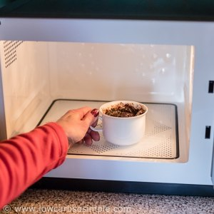 Removing from the microwave | Low-Carb, So Simple