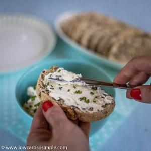Cream Cheese Garlic Spread with Feta   Low-Carb, So Simple